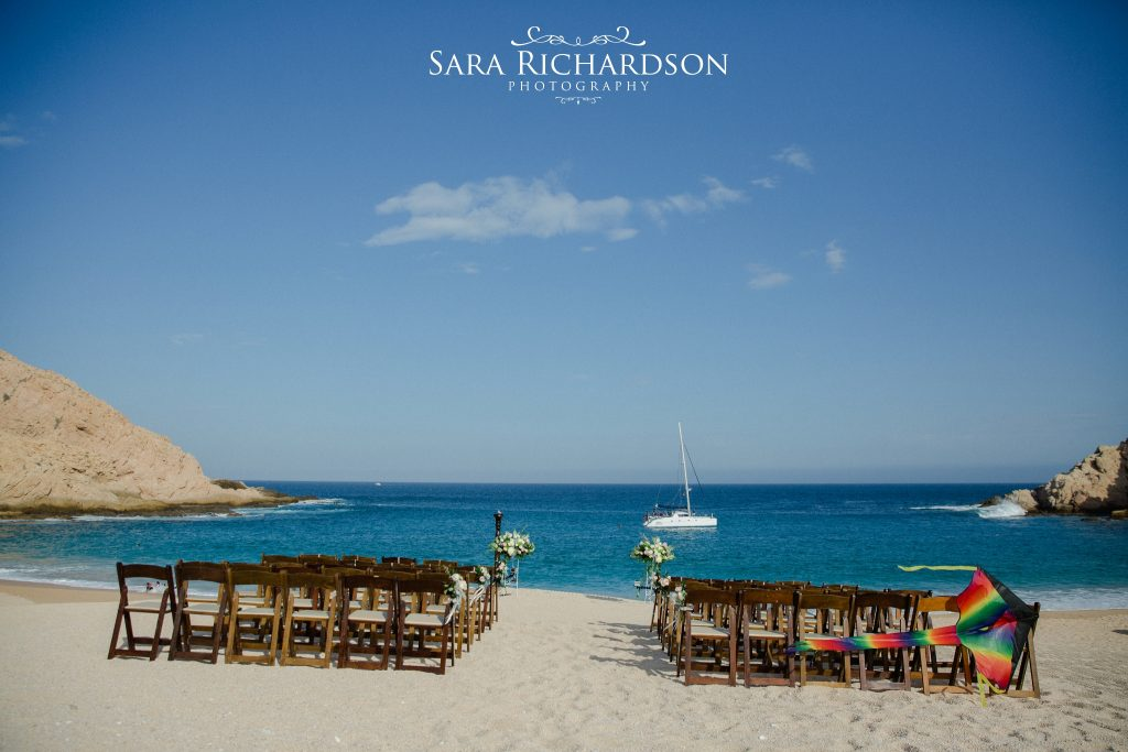 stunning ceremony at Santa Mara for this romantic beach wedding