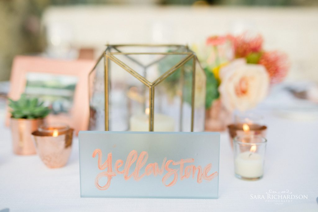 modern wedding effects on this wedding table
