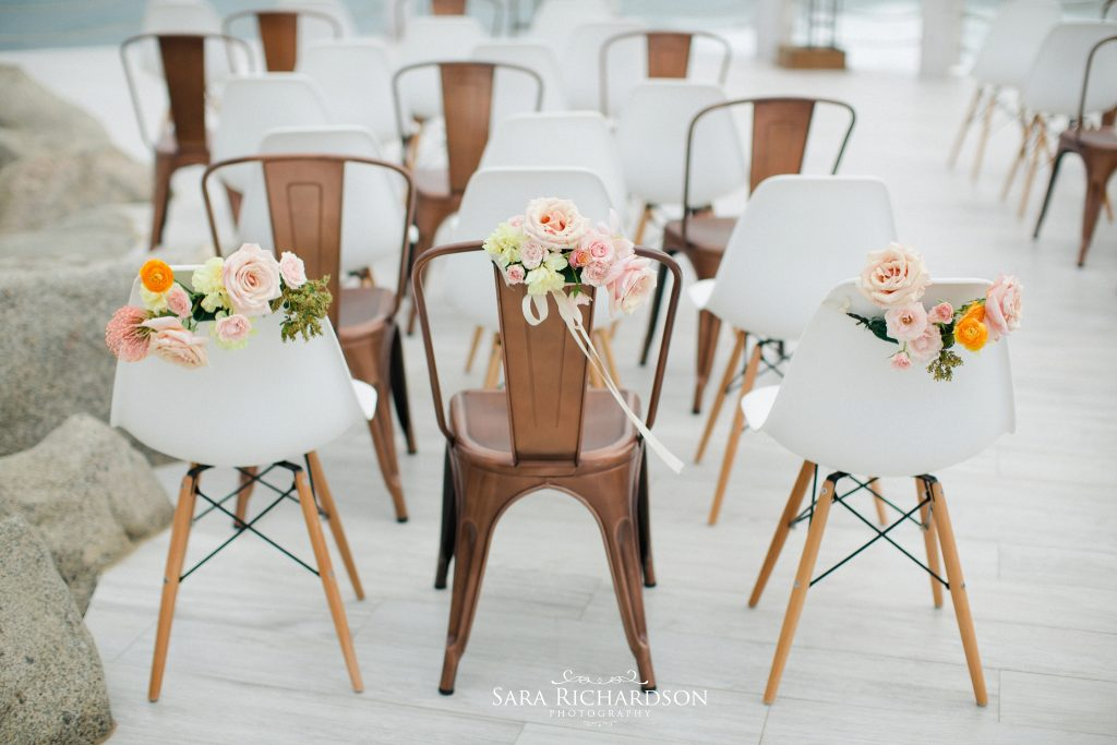 even the chairs were modern at this wedding