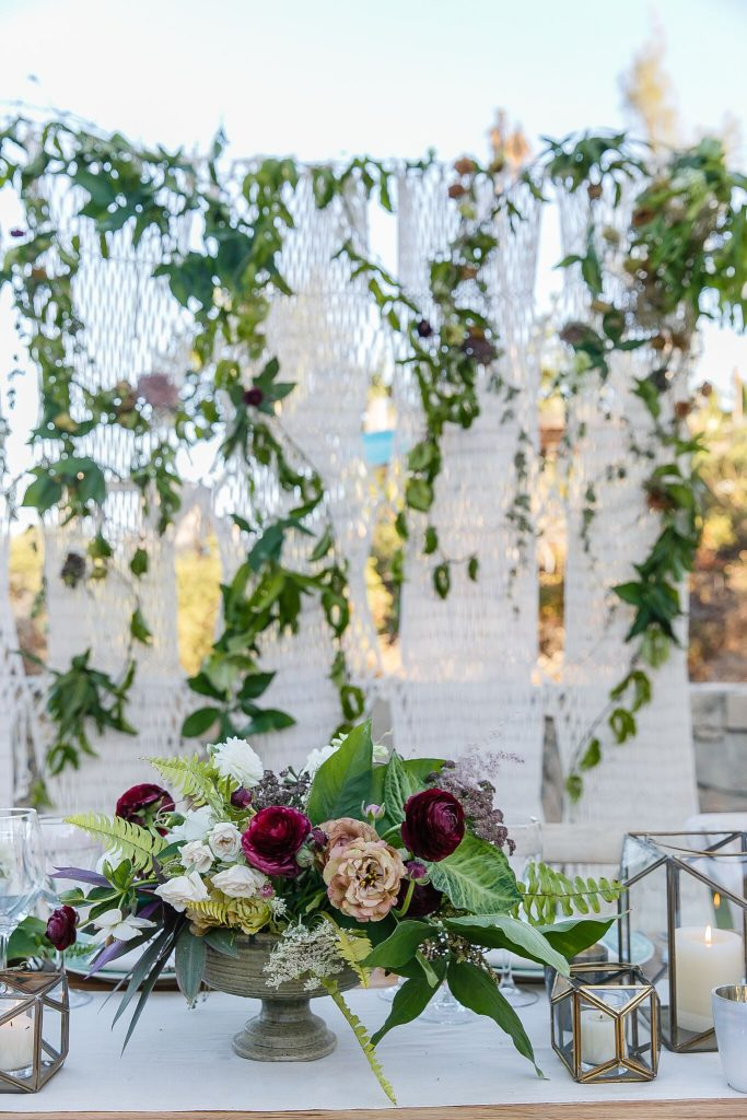 colorful table settings at this Cabo beach wedding
