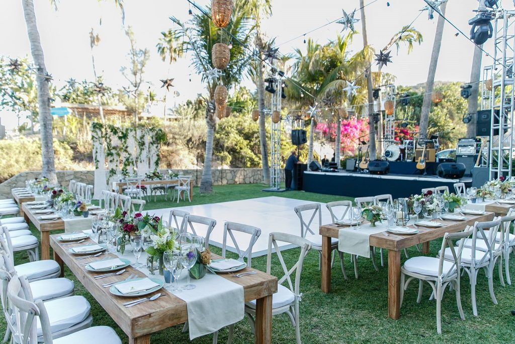 Cabo Beach Wedding Reception On Gry Inland Area