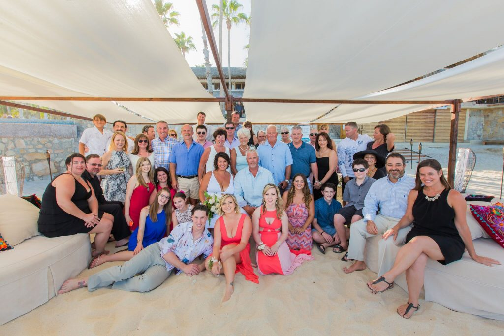 the gang's all here at this Cabo beach wedding
