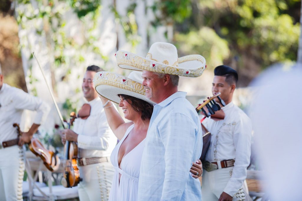 a special moment with bride & groom at their Cabo beach wedding