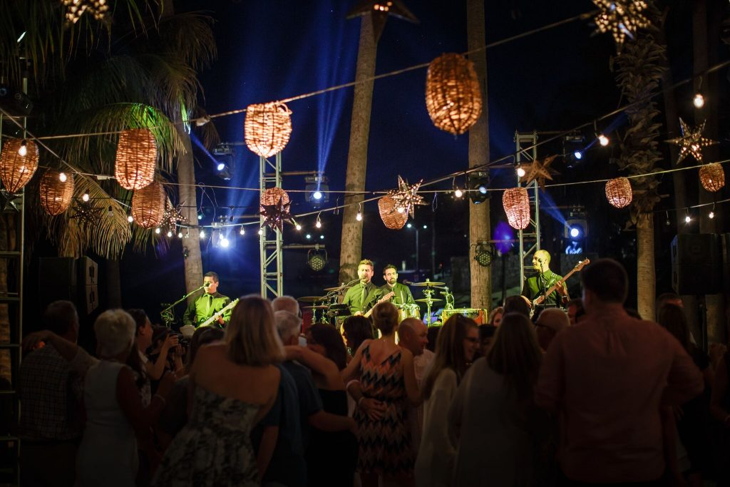 party time at Cabo beach wedding