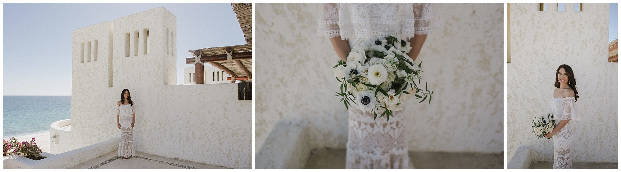 Marissa wore a stunning gown for her beautiful Cabo wedding