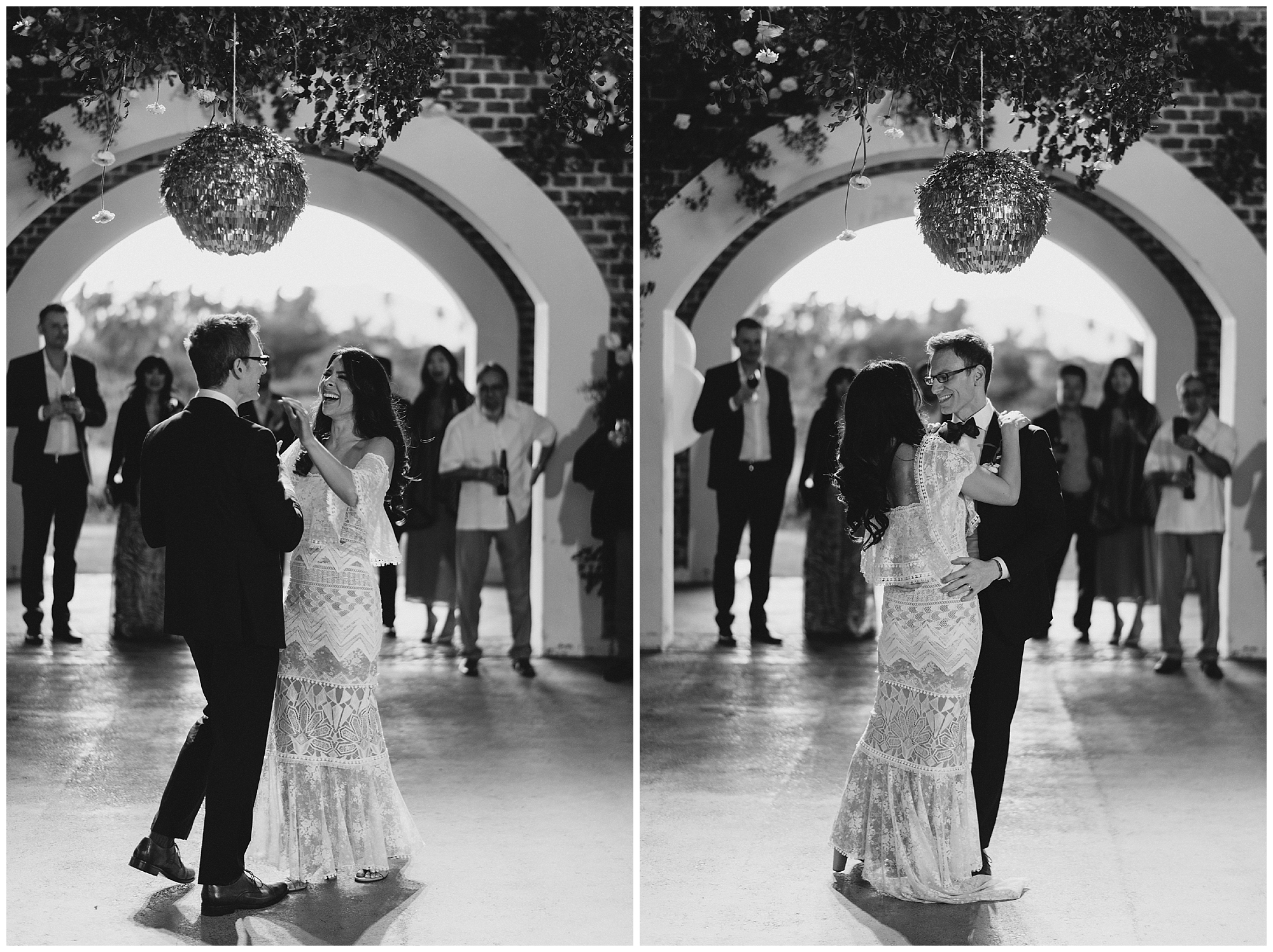 The first of many dances to come for this bride & groom at this beautiful Cabo wedding