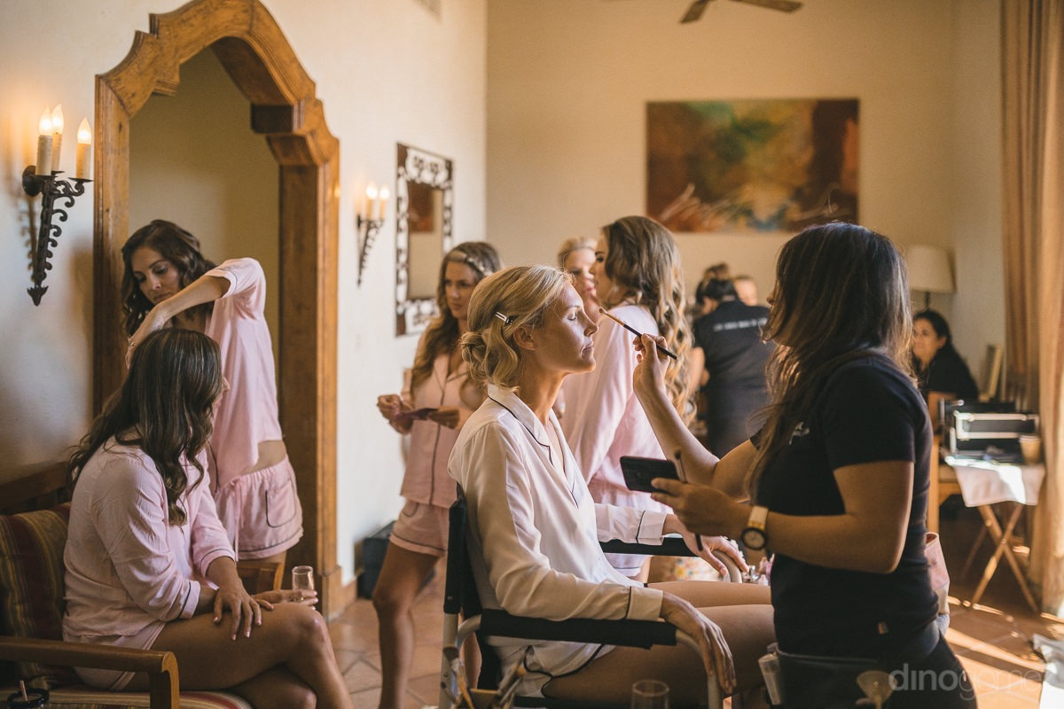 the bridal party gets ready at Cabo del Sol wedding