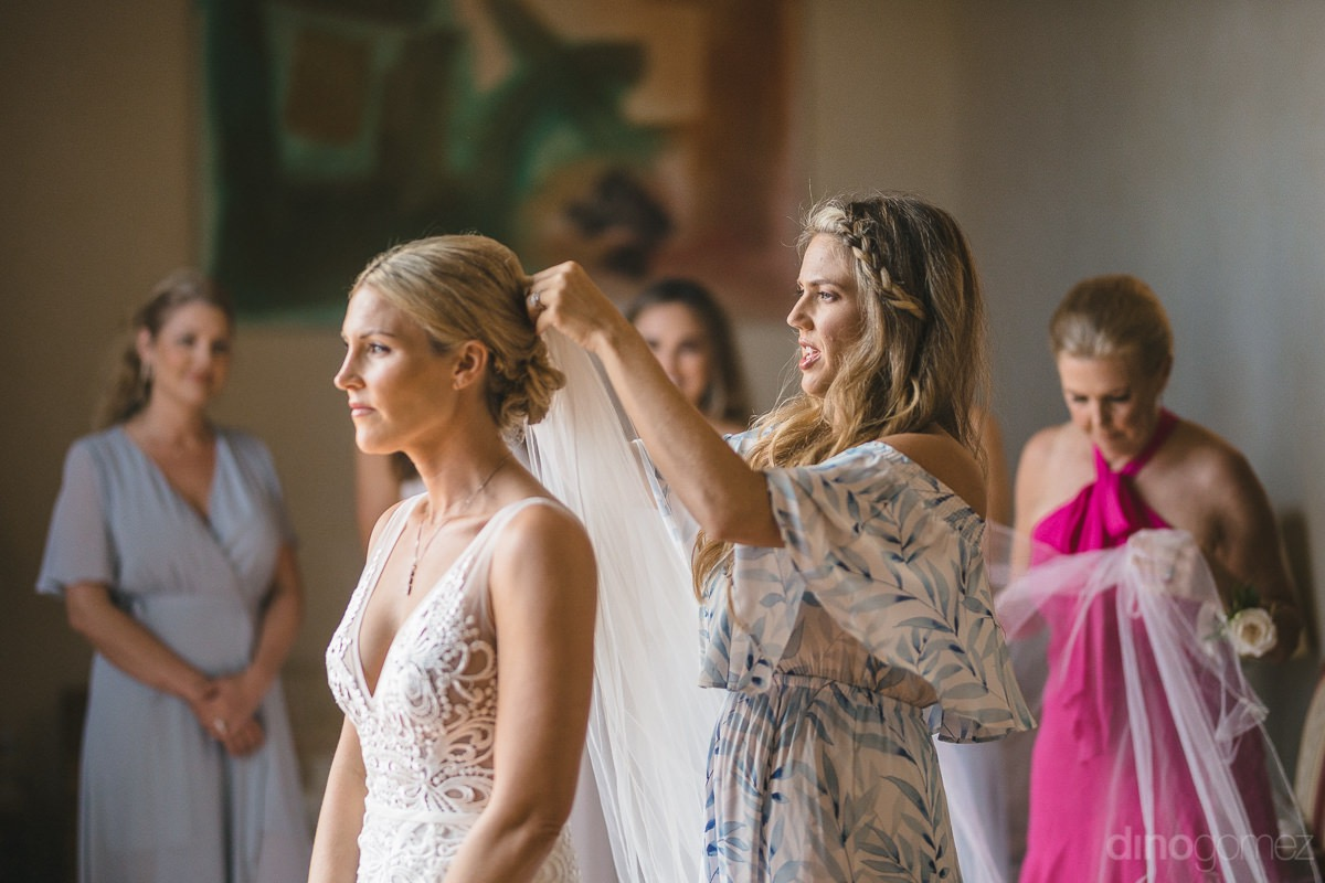 our stunning bride gets ready to say 'I do' at Cabo del Sol wedding