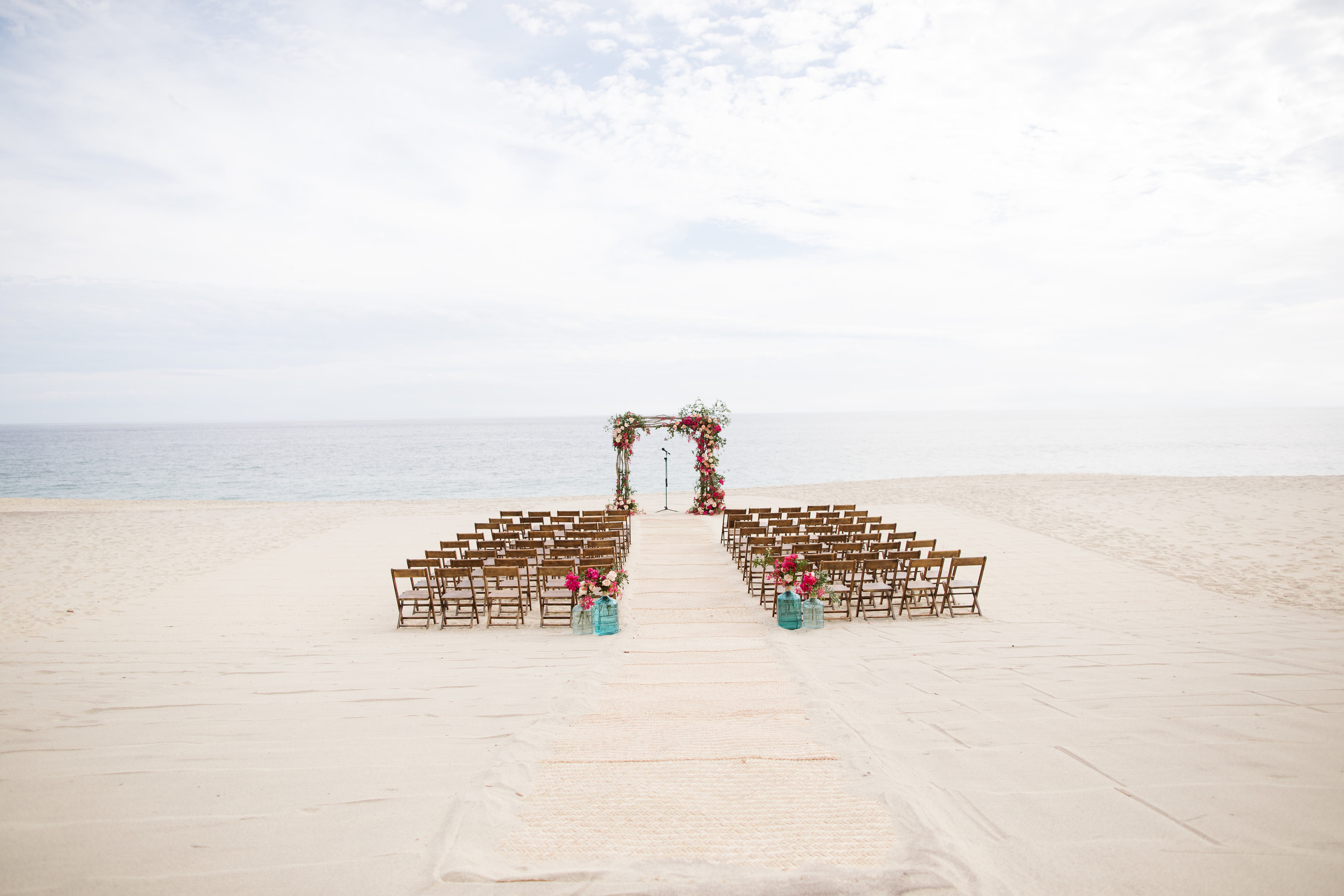 a stunning Mexican themed wedding ceremony venue