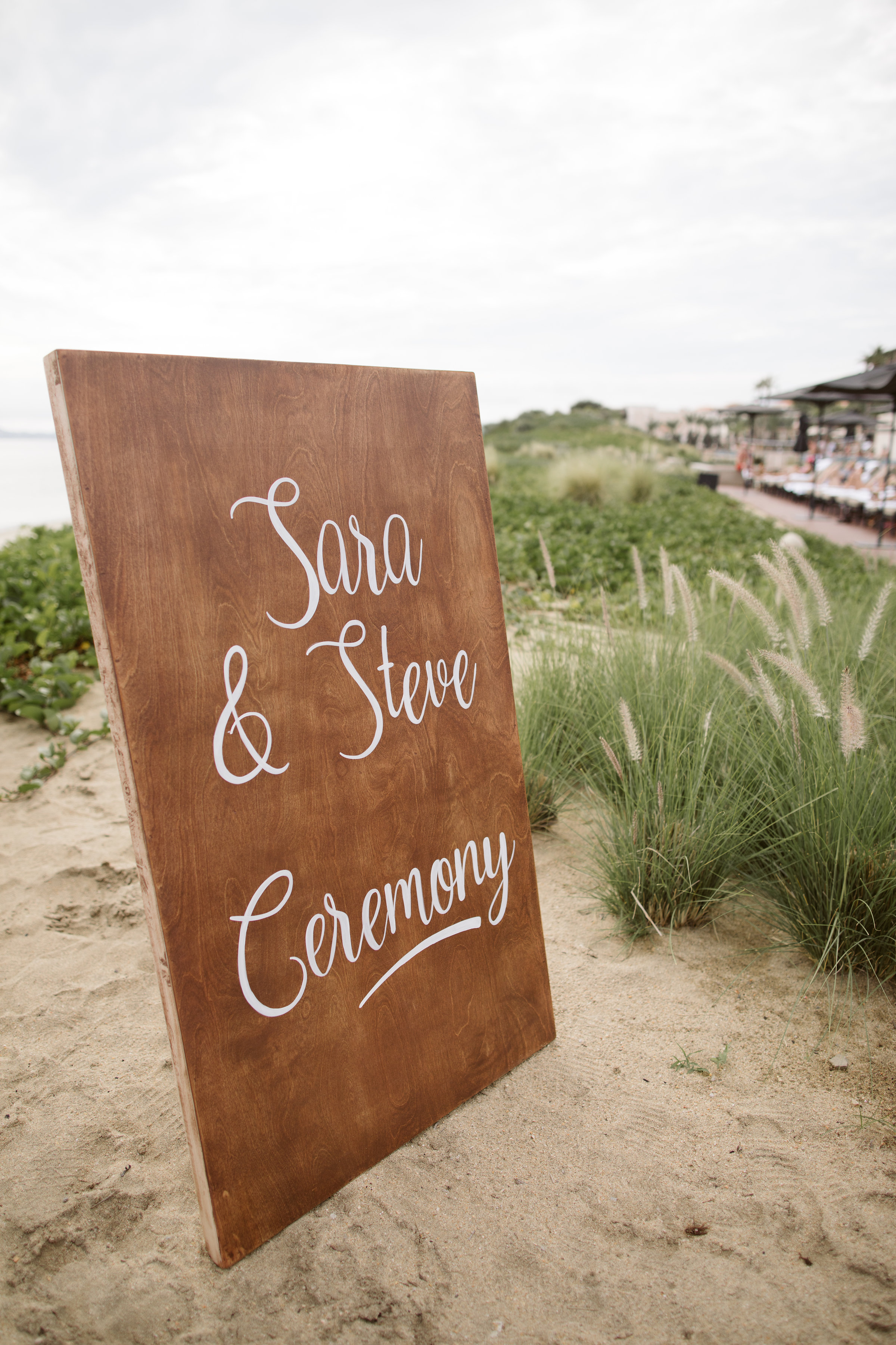 rustic Mexican themed wedding wooden announcement board