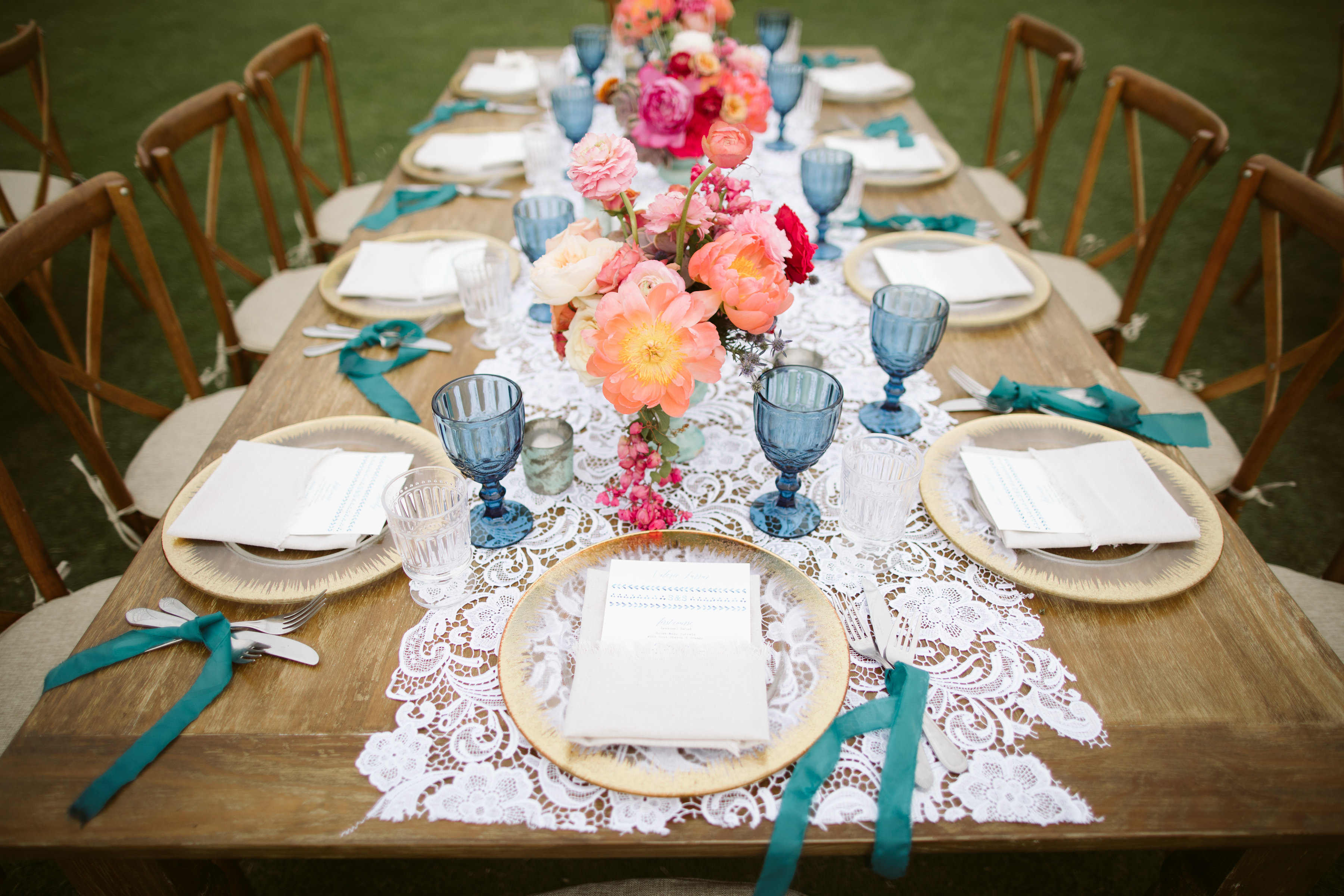 beautiful Mexican themed wedding table setting