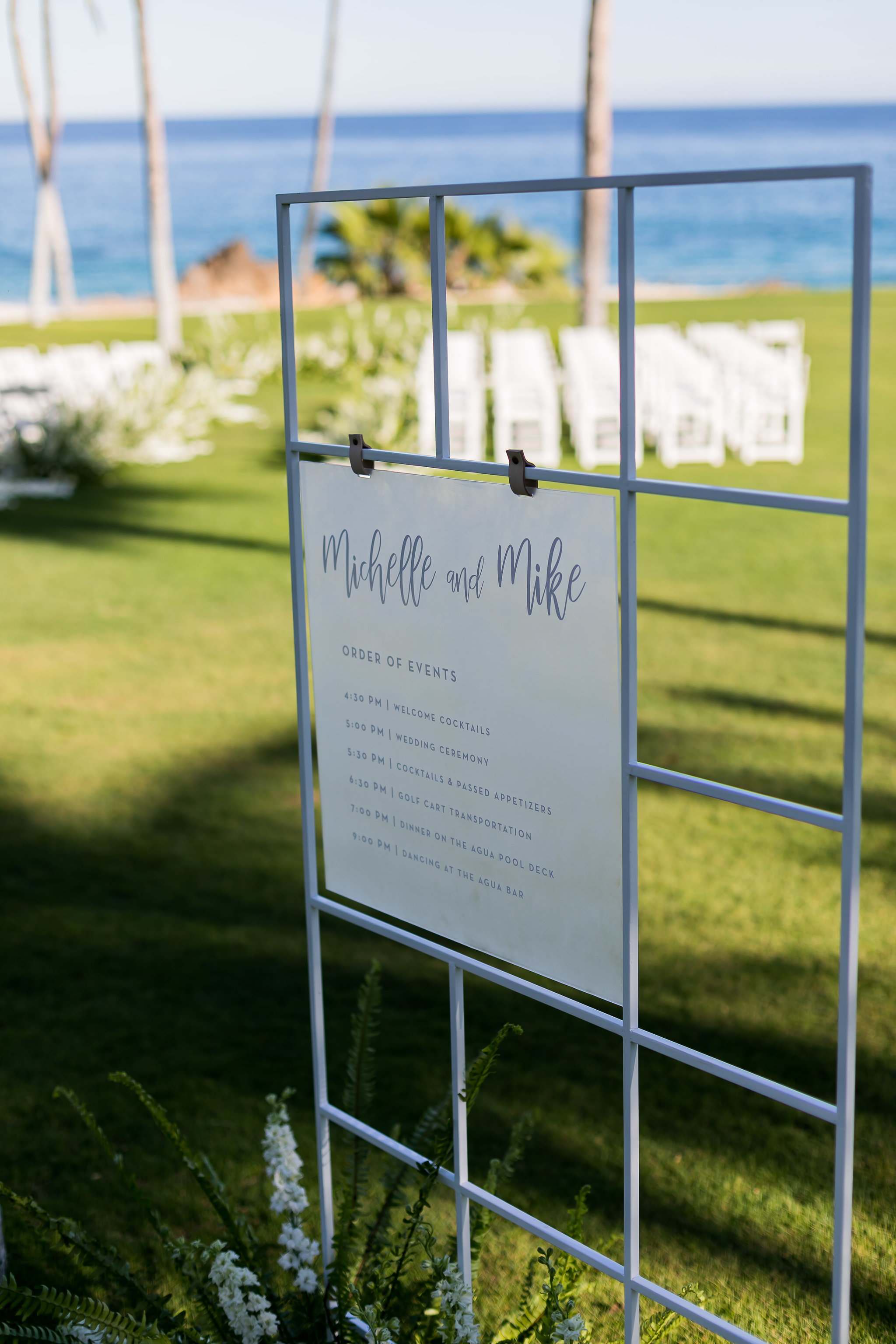 White Wedding At The One & Only Palmilla Order Of Events