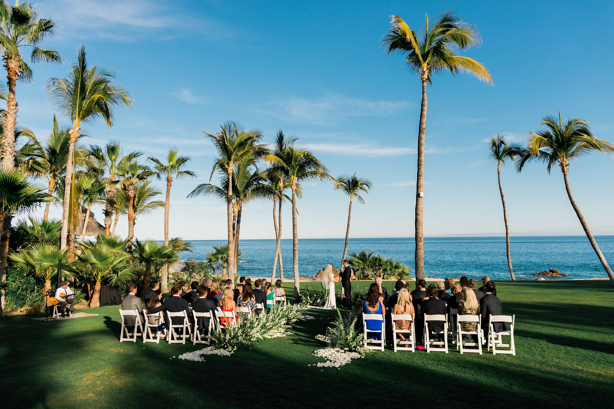 stunning ocean ceremony at White Wedding At The One & Only Palmilla