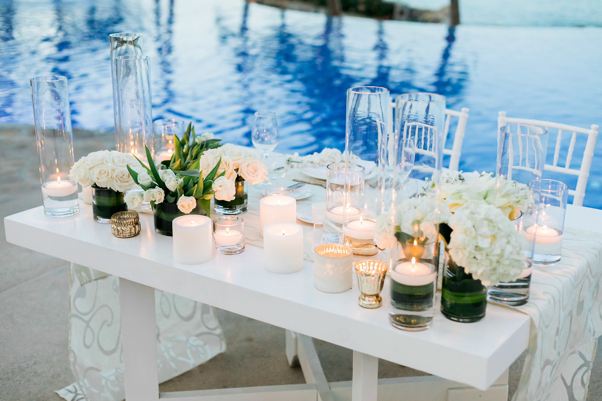 clean and classy White Wedding At The One & Only Palmilla