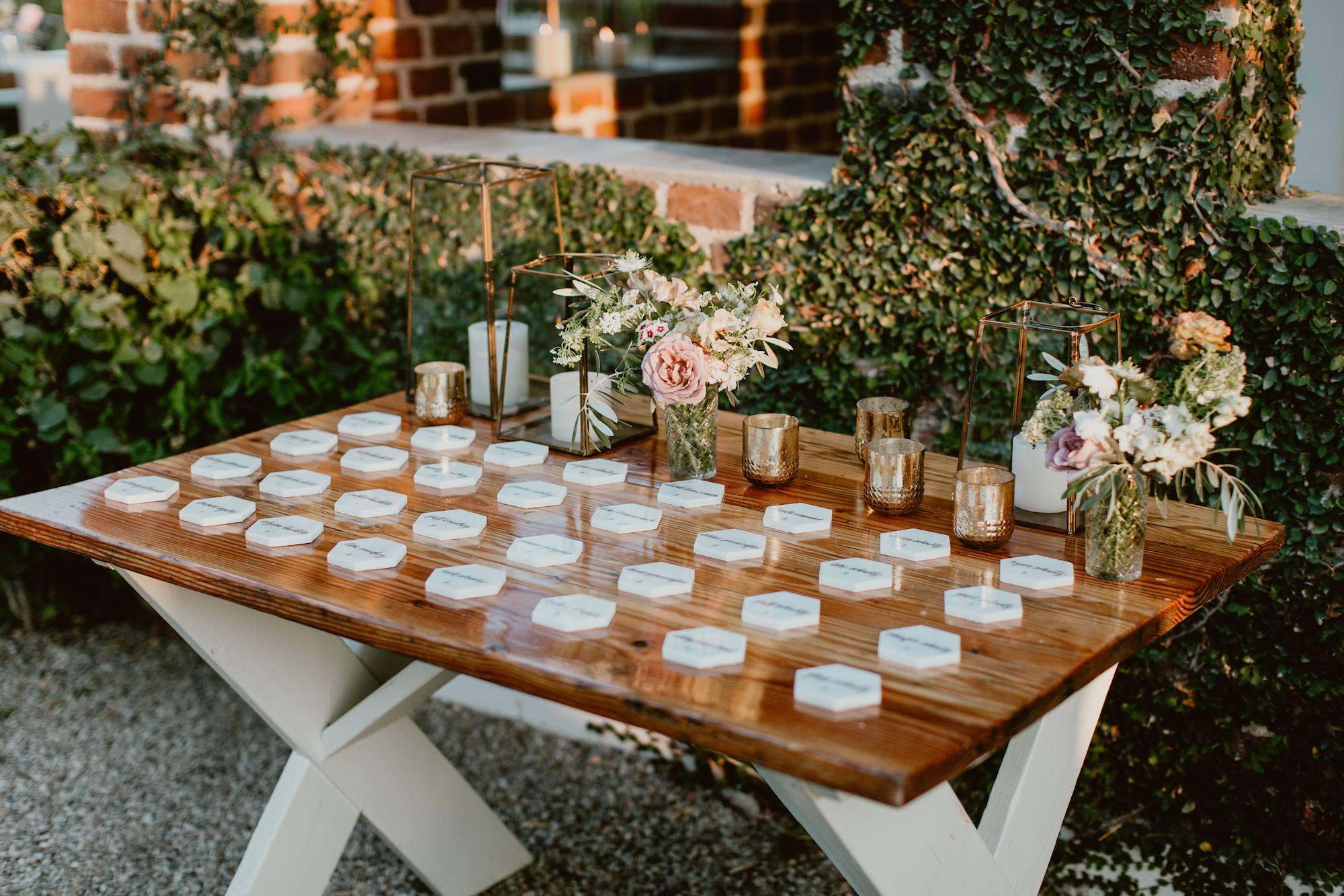 handmade touches from home at June wedding at Flora Farms