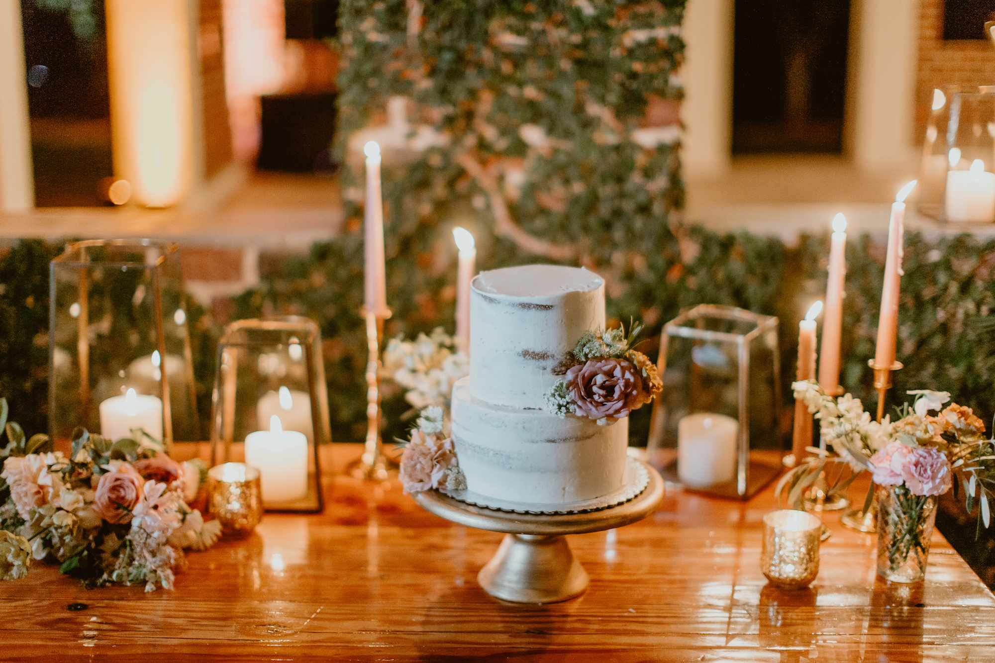 delicious cake at June wedding at Flora Farms