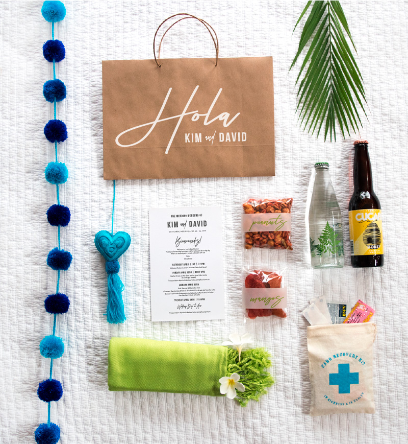 Hola Wedding Welcome Favor Bag