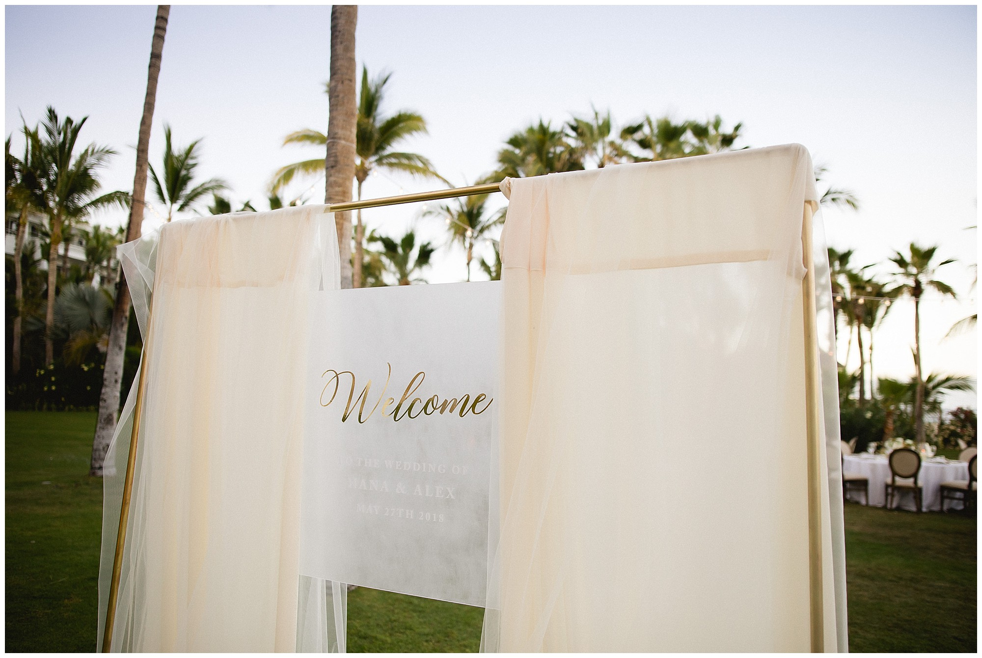welcome area at One&Only Palmilla wedding