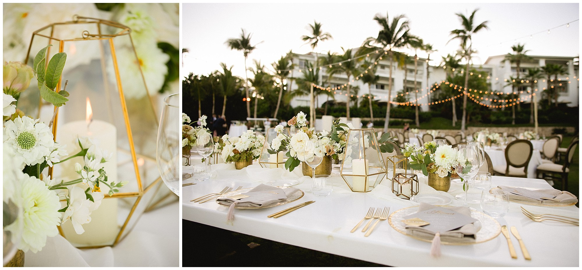 spectacular table settings at One&Only Palmilla wedding