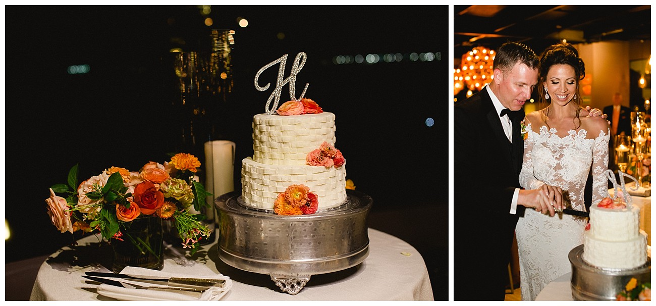 beautiful cake at Sunset Monalisa wedding