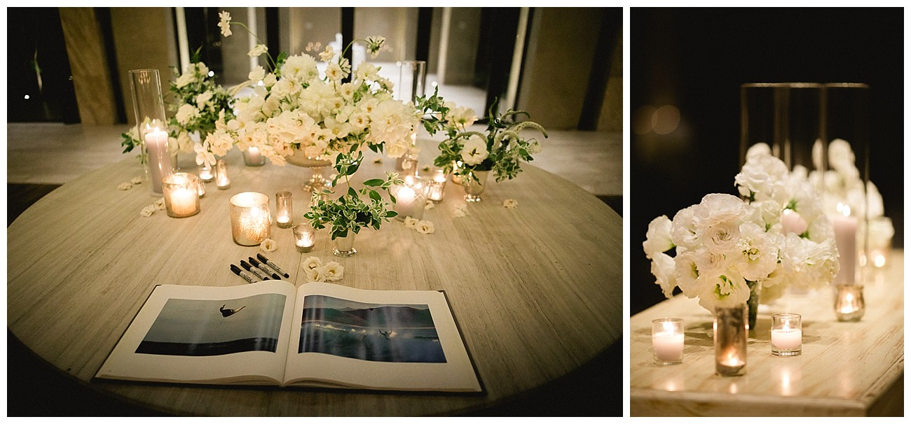 white floral theme for a wedding at JW Marriott San Jose del Cabo