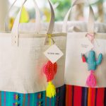 colorful Mexican themed bags for a Chileno Bay wedding