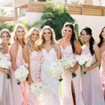 bridal party for a wedding at Chileno Bay